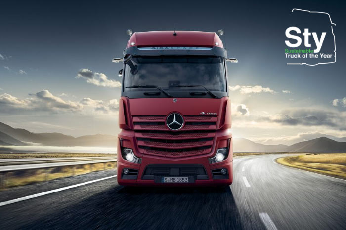 Nuovo Mercedes-Benz Actros premiato al Sustainable Truck of the Year 2020